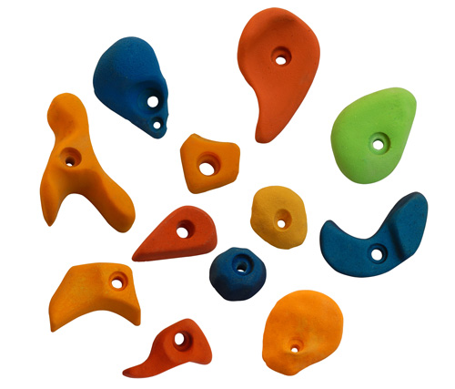 Climbing Holds Mix12 Pieces Set