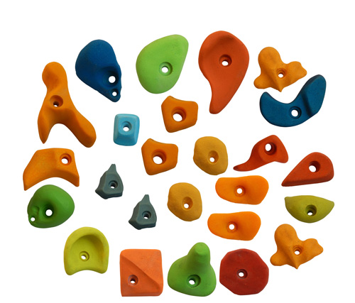 Climbing Holds Mix25 Pieces Set