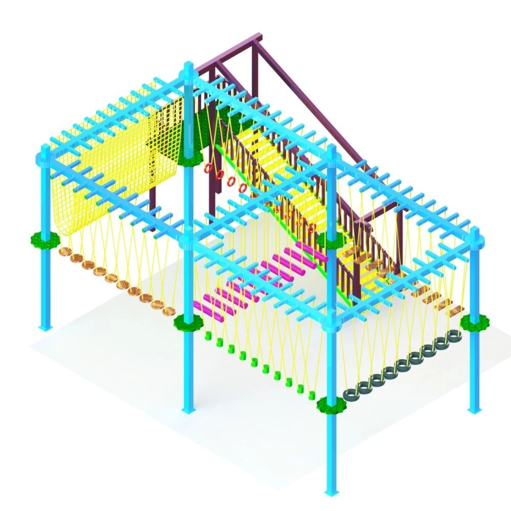 DOUBLE LAYER 6 POLE ROPE COURSE
