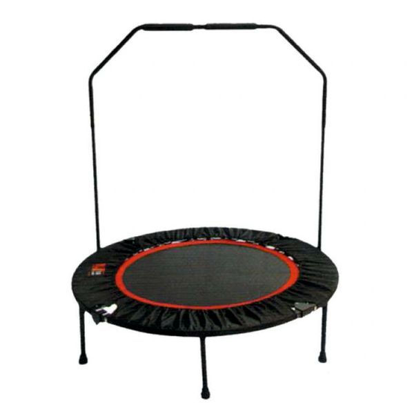 FOLDING TRAMPOLINE WITH HANDRAIL
