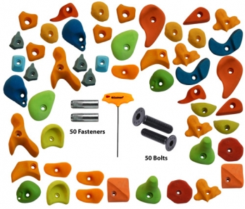 Climbing Holds Mix50 Pieces Set Fastener + Bolt + LN Key Manufacturers in Delhi