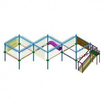 DOUBLE LAYER 10 POLE ROPE COURSE Manufacturers in Delhi