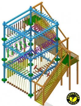 DOUBLE LAYER 4 POLE ROPE COURSE Manufacturers in Gujarat