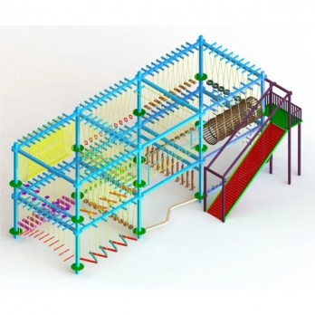 DOUBLE LAYER 8 POLE ROPE COURSE Manufacturers in Gujarat