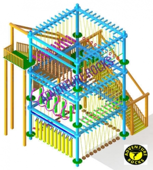 Triple Layer 10 Pole Rope Course Manufacturers in Jharkhand