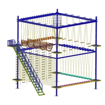 Triple Layer 4 Pole Rope Course Manufacturers in Jharkhand