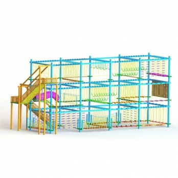 TRIPLE LAYER 8 POLE ROPE COURSE Manufacturers in Muzaffarpur